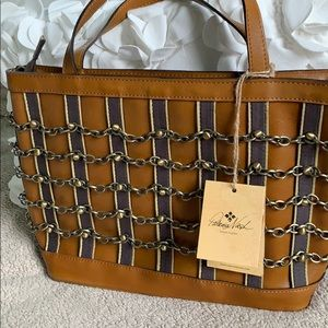 NWT Patricia Nash handbag LARGE & gorgeous chains